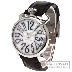 Gaga Milano【ガガ・ミラノ】 腕時計 ステンレススチール/革/革 レディース