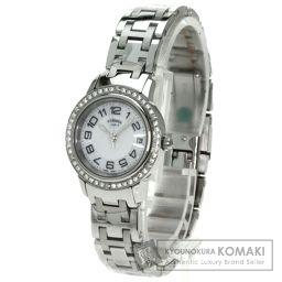 HERMES【エルメス】 クリッパー 腕時計 ステンレススチール/SS/SSダイヤモンド レディース