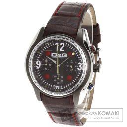 D&G【ディーアンドジー】 ロゴデザイン 腕時計 ステンレススチール/レザー/レザー メンズ