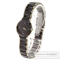 RADO【ラドー】 ダイヤスター 4Pダイヤ 腕時計 2844/セラミック/セラミック レディース