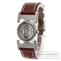 HERMES【エルメス】 腕時計 ステンレス/革/革 レディース