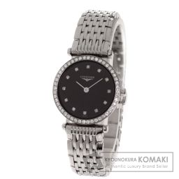 LONGINES【ロンジン】 腕時計 ステンレス/SS/SSベゼルダイヤモンド レディース