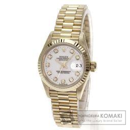 ROLEX【ロレックス】 デイトジャスト オイスターパーペチュアル 腕時計 K18イエローゴールド/K18YG/K18YG レディース