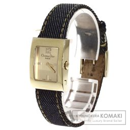 Christian Dior【クリスチャンディオール】 マリス 腕時計 ステンレス/キャンバスxレザー/キャンバスxレザー レディース