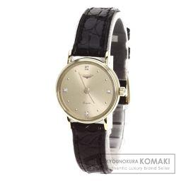 LONGINES【ロンジン】 ダイヤモンド 腕時計 K18イエローゴールド/アリゲーター/アリゲーター レディース