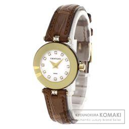 CENTURY【センチュリー】 7790 腕時計 K18イエローゴールド/クロコダイル/クロコダイル レディース