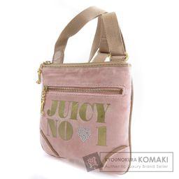 JUICY COUTURE【ジューシークチュール】 ロゴモチーフ ショルダーバッグ ベルベット レディース