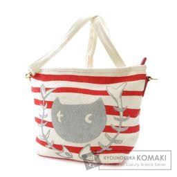 TSUMORI CHISATO【ツモリチサト】 猫モチーフ ショルダーバッグ キャンバス レディース