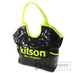 kitson【キットソン】 ロゴモチーフ トートバッグ スパンコール/パテントレザー/パテントレザー レディース