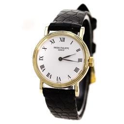 PATEK PHILIPPE【パテックフィリップ】 腕時計 K18イエローゴールド/クロコダイル/クロコダイル レディース