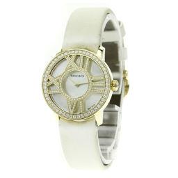 TIFFANY&Co.【ティファニー】 Z1900.10.50E91 腕時計 K18イエローゴールド/サテン/サテン レディース