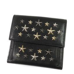 JIMMY CHOO【ジミーチュウ】 二つ折り財布(小銭入れあり) レザー レディース