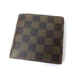 LOUIS VUITTON【ルイ・ヴィトン】 N61675 二つ折り財布(小銭入れあり) ダミエキャンバス レディース