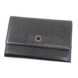 BVLGARI【ブルガリ】 二つ折り財布(小銭入れあり) レザー レディース