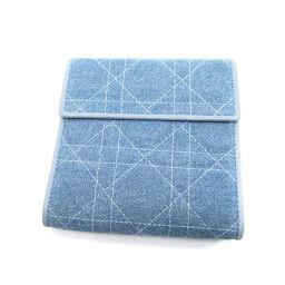 Christian Dior【クリスチャンディオール】 二つ折り財布(小銭入れあり) デニム レディース