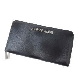 ARMANI JEANS【アルマーニ・ジーンズ】 長財布(小銭入れあり) 合成皮革 レディース