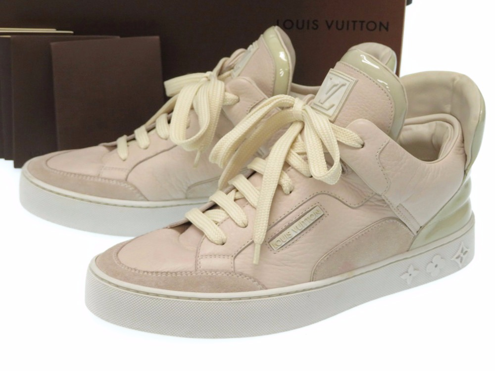 6d40dc9a12a3 AUTHENTIC LOUIS VUITTON x Kanye West Dons sneakers Leather 0150
