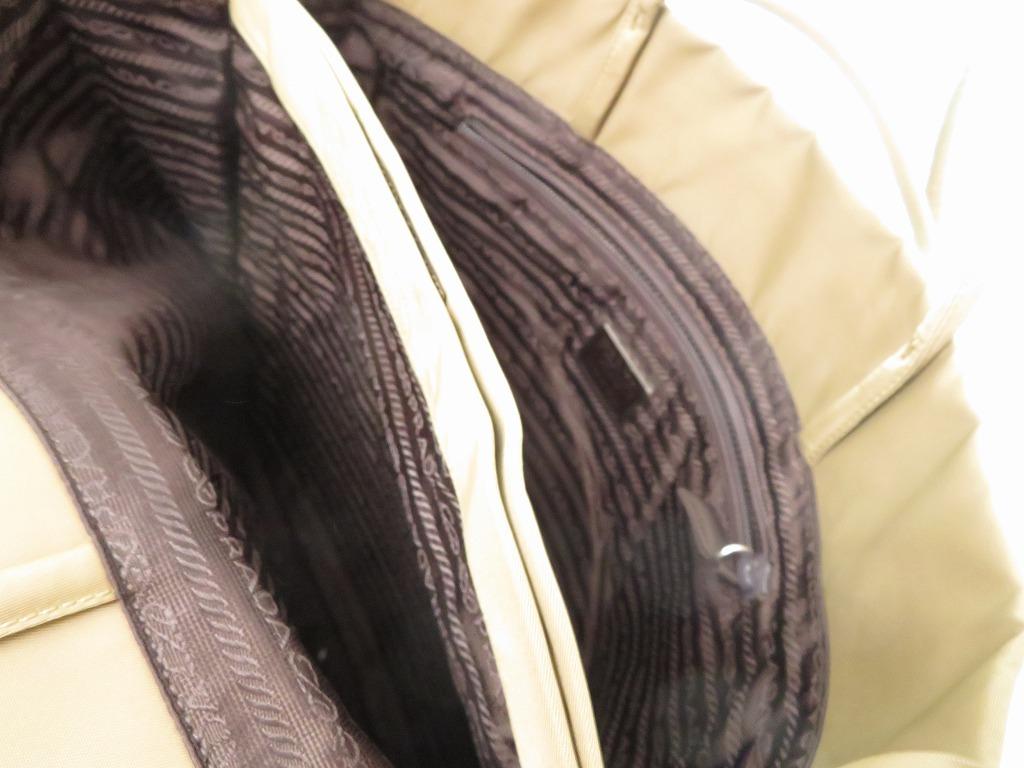 fd6432d84dc5 AUTHENTIC PRADA Trapezoid Hand Bag khaki Nylon 0130 | eBay