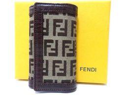 FENDI【フェンディ】 キーケース キャンバス/レザー/キャンバス ユニセックス