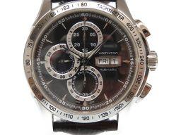 HAMILTON【ハミルトン】 H328162 クロノグラフ 腕時計 ステンレススチール/型押しレザー メンズ