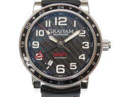 GRAHAM【グラハム】 2TZAS.B02A GMT 腕時計 ステンレススチール/レザー メンズ