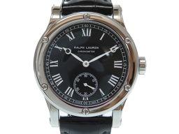 RALPH LAUREN【ラルフローレン】 RLR0250700 7607 スポーティング コレクション 腕時計 ステンレススチール/クロコダイル メンズ
