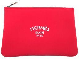 HERMES【エルメス】 ポーチ /ポリウレタン レディース