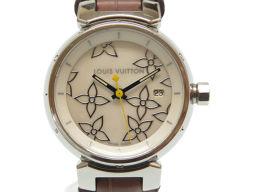 LOUIS VUITTON【ルイ・ヴィトン】 Q121C 7963 腕時計 /ステンレススチール/クロコダイル レディース