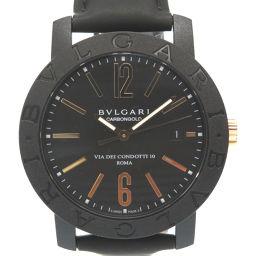 BVLGARI【ブルガリ】 BB40CL 腕時計 /レザー/カーボン メンズ