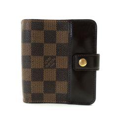 LOUIS VUITTON【ルイ・ヴィトン】 コンパクトジップ 二つ折り財布(小銭入れあり) ダミエキャンバス メンズ