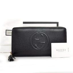GUCCI【グッチ】 長財布(小銭入れあり) レザー ユニセックス