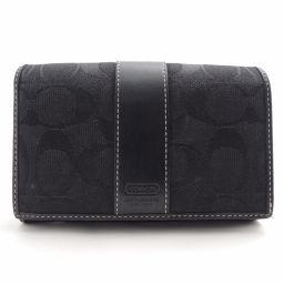 COACH【コーチ】 フラップ型 二つ折り財布(小銭入れあり) キャンバス/レザー レディース
