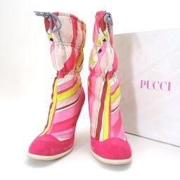 Emilio Pucci【エミリオ・プッチ】 ブーツ ナイロンキャンバス  レディース