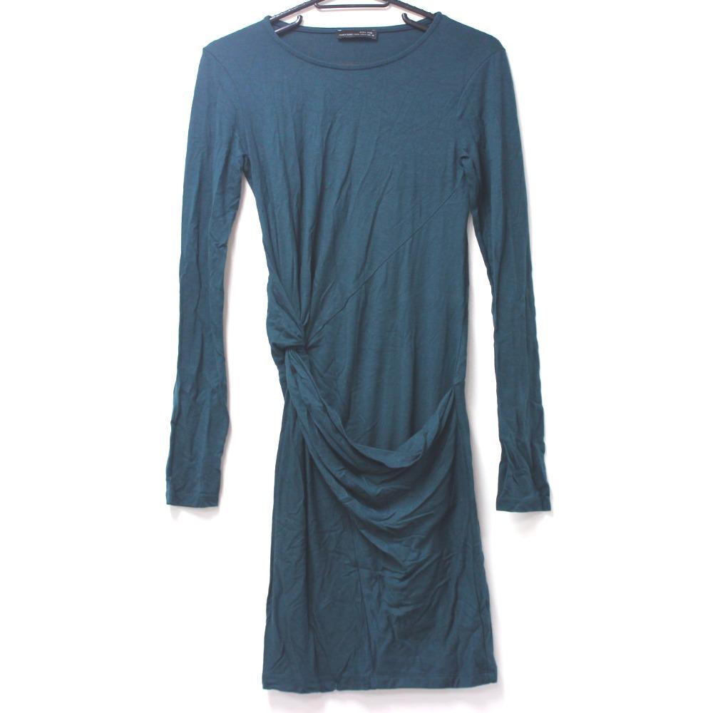 b0180e764a45c ZARA 【Zara】 W & B Long sleeve one piece one piece 6816 Women's ー ...