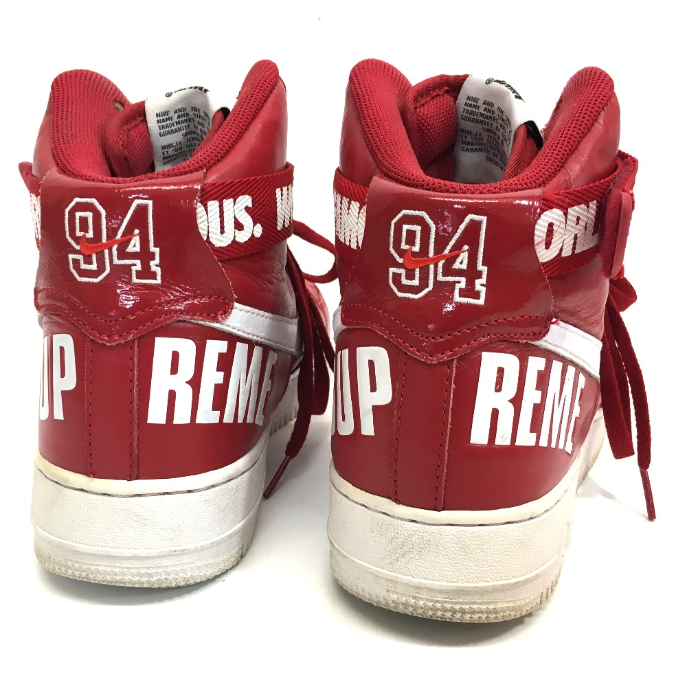 AUTHENTIC Supreme Nike x Supreme Air Force 1 High Cut Sneaker 2014 NIKE x SUPREME AIR FORCE 1 HIGH SUPREME SP sneakers Red