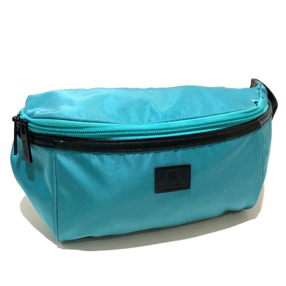 16643c23926c Details about AUTHENTIC BURBERRY Black Label Hip bag - Waist Pouch Light  Blue Black Nylon
