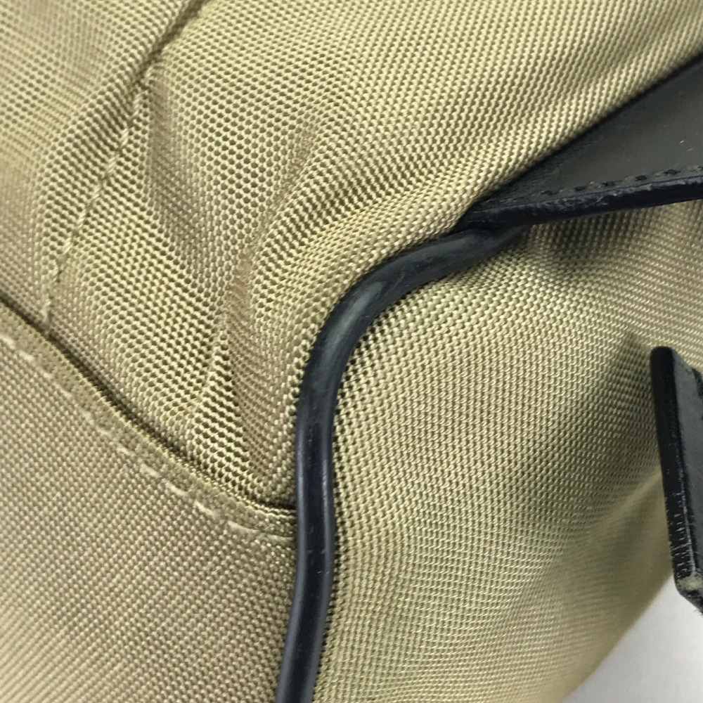 AUTHENTIC GUCCI Old Gucci Backpack-Bag Beige Black Nylon  019・0352 ... ab73c58e18