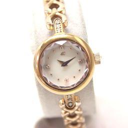 4℃【ヨンドシー】 ブレスレットウォッチ 腕時計 SS/ダイヤモンド/サファイア レディース