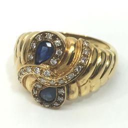JEWELRY【リサイクルジュエリー】 リング・指輪 2699/サファイア/ダイヤモンド レディース