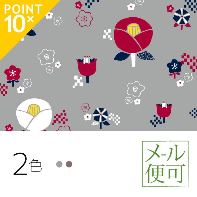 ()  mashu KYOTO 風呂敷 椿柄 二四巾(90cm)  00037  和装小物