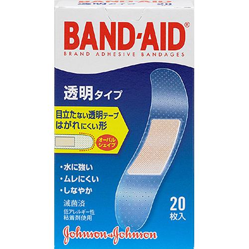 ジョンソン・エンド・ジョンソン バンドエイド2011 透明 20枚 衛生医療 透明タイプ絆創膏