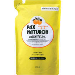 太陽油脂 パックスナチュロン お風呂洗いせっけん(泡スプレー) 詰め替え用 450ml 日用品 洗剤 おふろ用