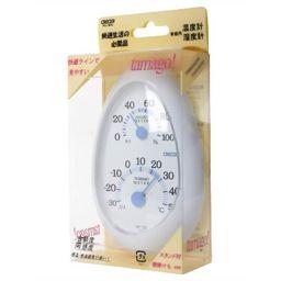 クレセル クレセル 家庭用温度計・湿度計 CR-133W ホワイト 家電 温度計