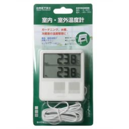 ドリテック ドリテック 室内・室外温度計 ホワイト O-215WT 家電 温度計