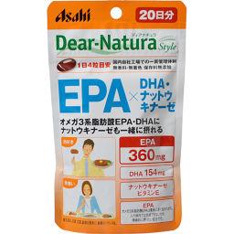 アサヒフードアンドヘルスケア ディアナチュラスタイル EPA×DHA・ナットウキナーゼ 80粒 健康食品 EPA