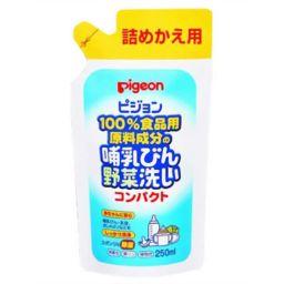ピジョン ピジョン 哺乳びん野菜洗いコンパクト 詰め替え用 250ml ベビー&キッズ 哺乳瓶消毒(洗剤)
