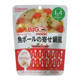和光堂 和光堂 BIGサイズのグーグーキッチン 魚ボールの寄せ鍋風 1歳4か月頃から 100g ベビー&キッズ 離乳食 完了期 魚・豆類(12ヶ月頃から)