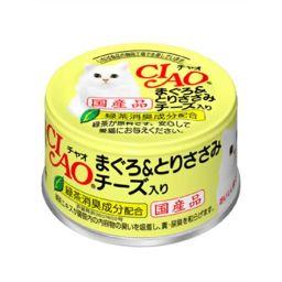 いなばペットフード チャオ まぐろ&とりささみ・チーズ入り 85g ペット用品 猫缶・レトルト(国産)