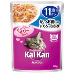 マースジャパンリミテッド カルカンパウチ 味わいセレクト かつお節入り まぐろとささみ 11歳から 70g ペット用品 猫缶・レトルト(高齢猫・シニア用)