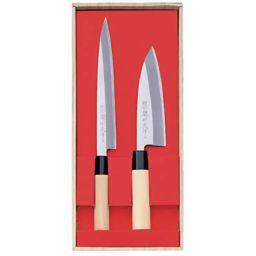 ヤクセル 関鍔蔵(セキツバゾウ)作 刺身・出刃2本組セット 30043 ホーム&キッチン 包丁セット